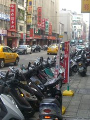 Mopeds everywhere in Taipei