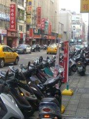 Mopeds everywhere in Taipei