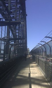 Crossing the Sydney Harbor Bridge