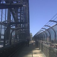 Crossing the Sydney Harbor Bridge
